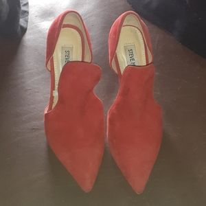 SM Red Suede Pumps